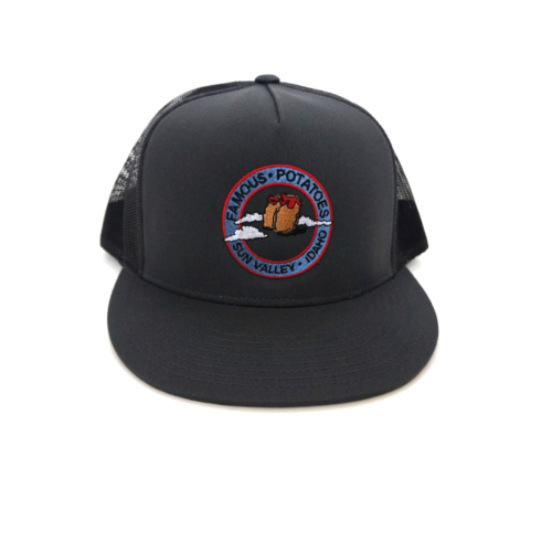 Famous Potatoes – Snapback Trucker Hat – Charcoal/Grey on Grey