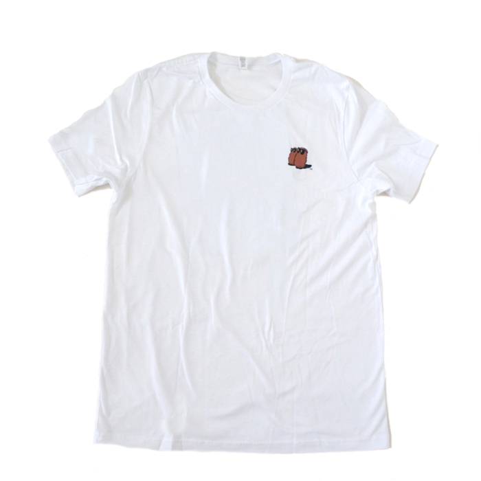 Famous Potatoes - Classic Mens Short Sleeve White Tee