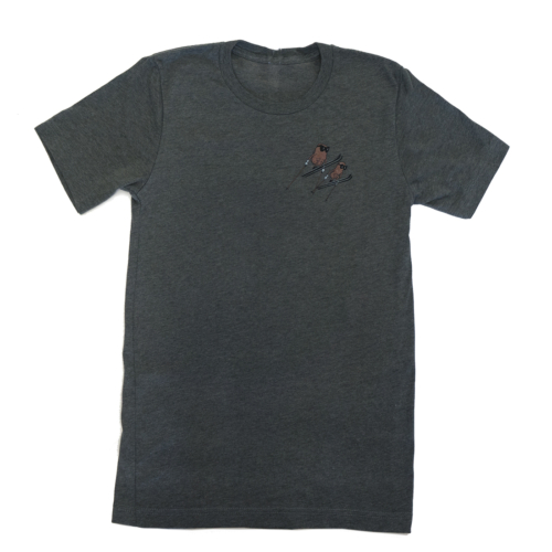 Famous Potatoes - Women's Relaxed Short Sleeve Grey Heather Tee Front