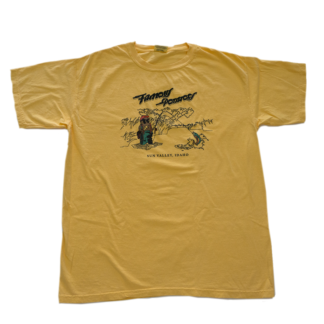 Famous Potatoes - Fly Fishing Potatoes Mens Short Sleeve-Citrus