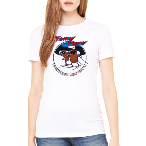 Famous Potatoes - Galena Lodge Nordic Ski Unisex White Short Sleeve Tee