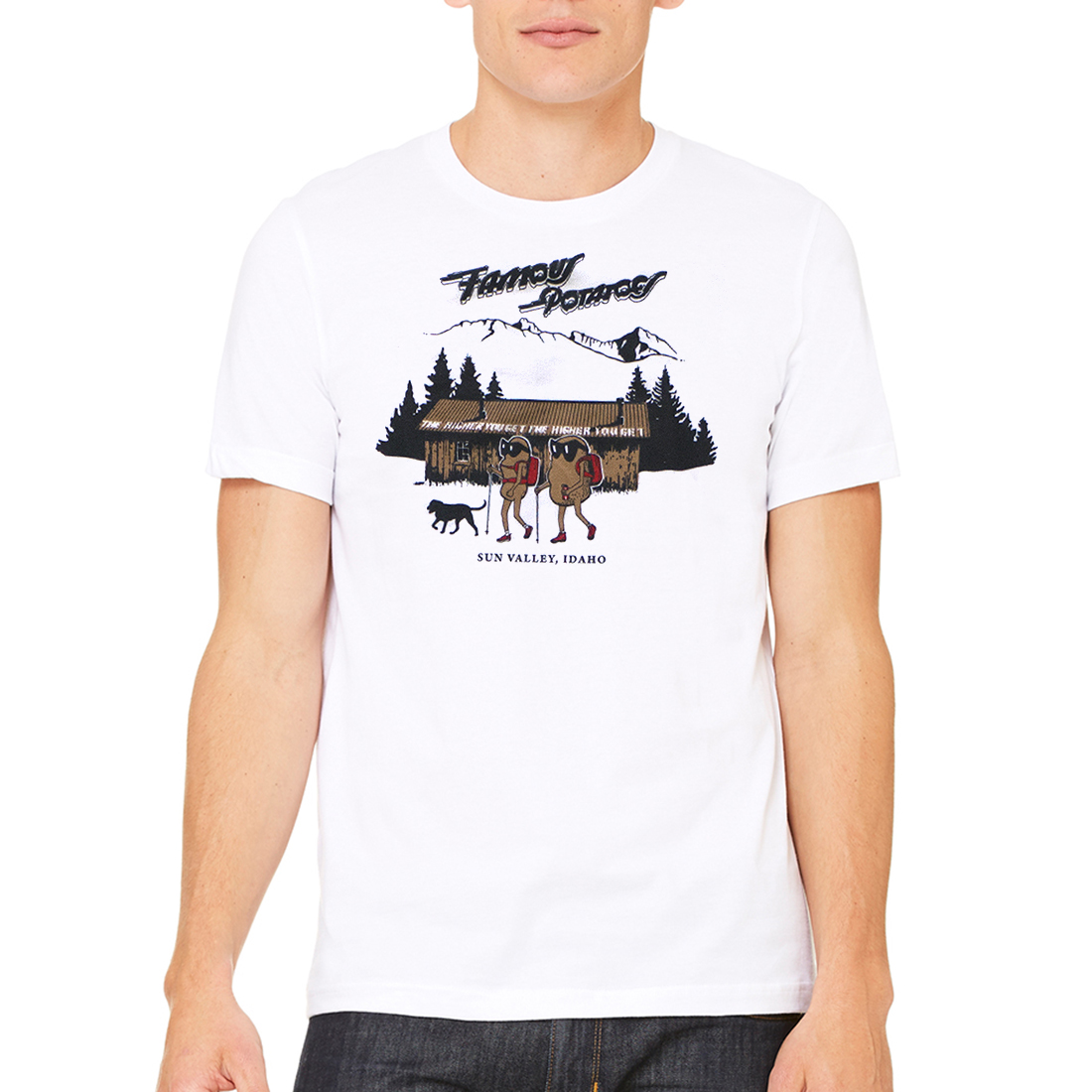 Famous Potatoes - Pioneer Cabin Unisex Short Sleeve-White
