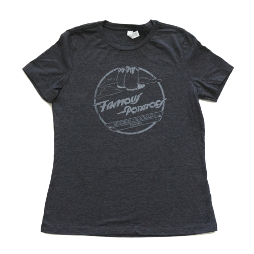 Famous Potatoes - Women's Relaxed Short Sleeve Black Heather Tee