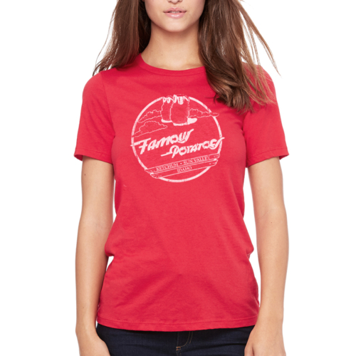 Famous Potatoes - Women's Relaxed Short Sleeve Red Tee
