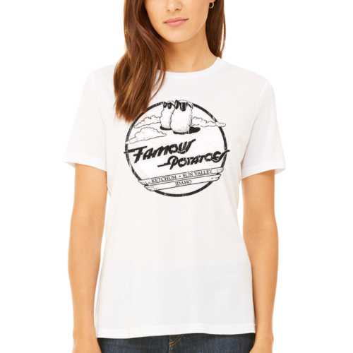 Famous Potatoes - Women's Relaxed Short Sleeve White Tee