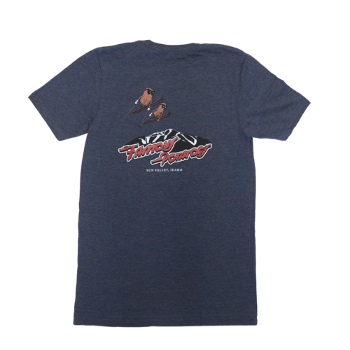Famous Potatoes - Women's Relaxed Short Sleeve Navy Heather Tee Back