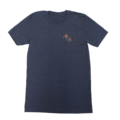 Famous Potatoes - Women's Relaxed Short Sleeve Navy Heather Tee Front