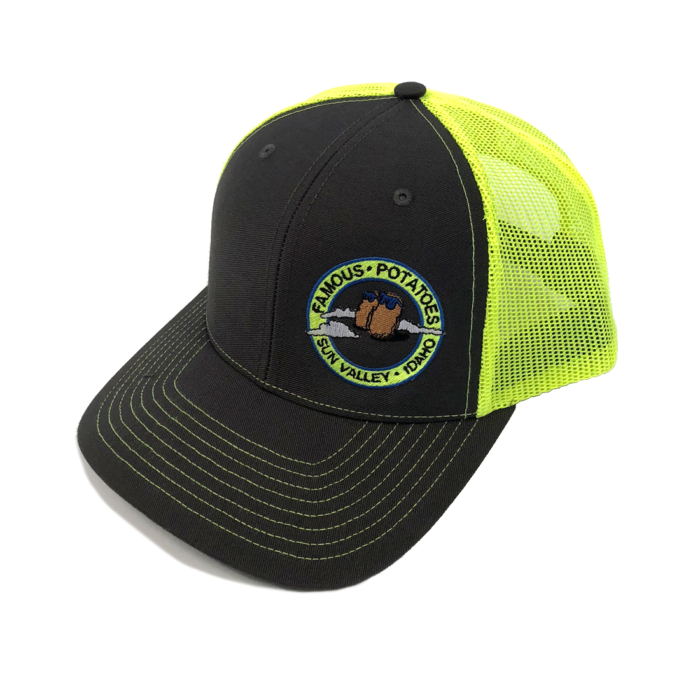 Famous Potatoes - Snapback Trucker Hat - Grey/Lime Art on Side
