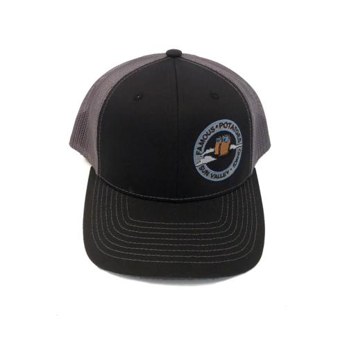 Famous Potatoes - Snapback Trucker Hat - Grey/Grey Art on Side