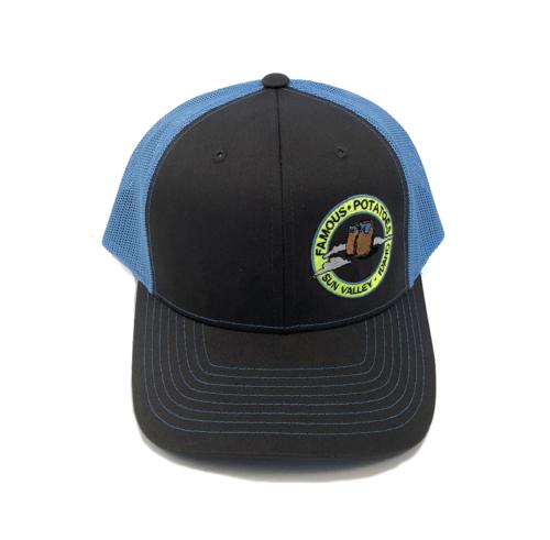 Famous Potatoes - Snapback Trucker Hat - Blue/Grey Art on Side
