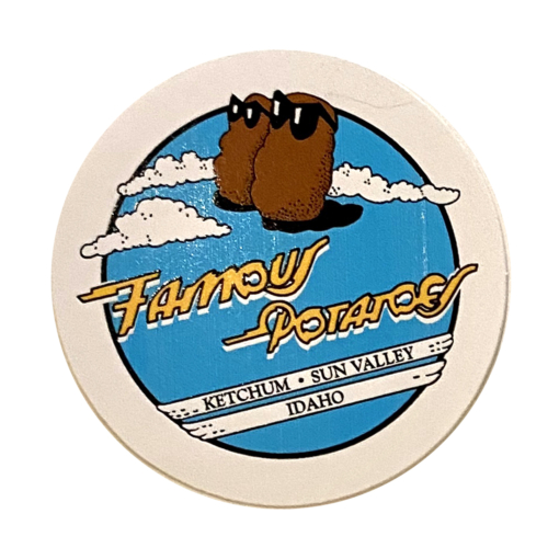 Famous Potatoes - Classic Sticker Blue, Yellow