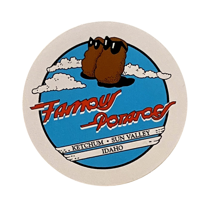 Famous Potatoes - Classic Sticker Red, White, Blue