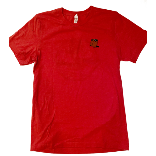 "Famous Potatoes - Red ""New Classic"" Logo Short Sleeve Tee"