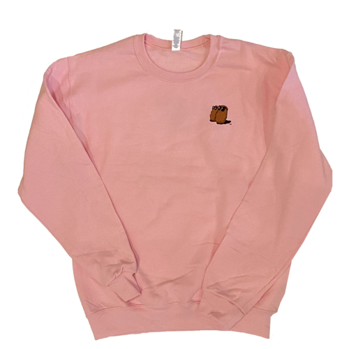 Famous Potatoes -Ladies Pink Crew Sweatshirt