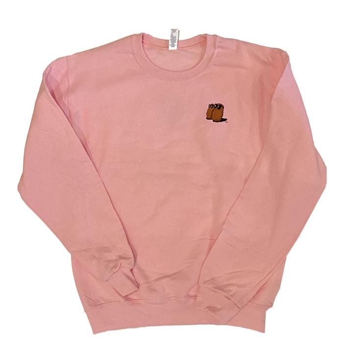 Famous Potatoes -Ladies Pink Crew Sweatshirt