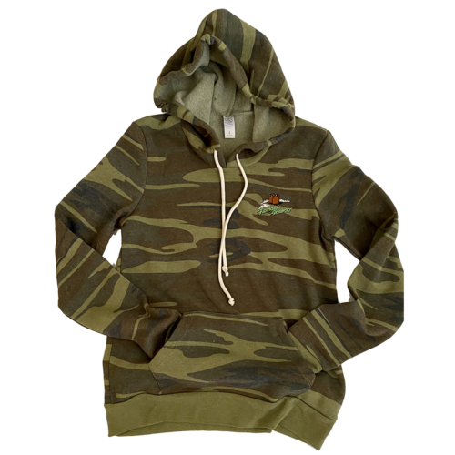 Famous Potatoes -Ladies Camo Fleece Hoodie
